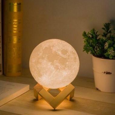 Ночник светильник детский Луна 3D AVVS tech Moon Lamp i5.9