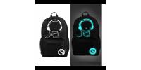 Светящийся городской рюкзак с usb зарядкой человечек в наушниках