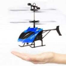 Вертолет на радиоуправлении летает от руки Sky Shock Original MIX (6-Sky Shock) Синий