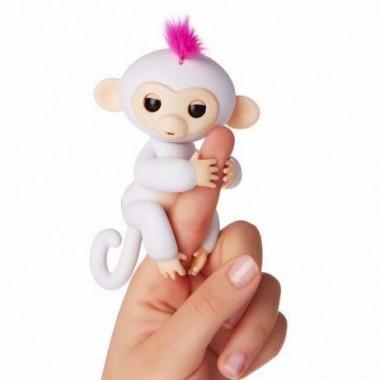 Интерактивная обезьянка fingerlings happy monkey Белый (W78)